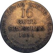16 Gute Groschen - Wilhelm IV – revers