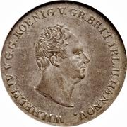 ⅔ Thaler - Wilhelm IV – avers