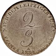 ⅔ Thaler - Wilhelm IV – revers