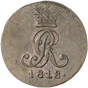 2 pfennig - George III – avers