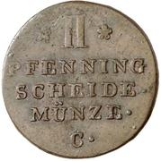 2 pfennig - George III – revers
