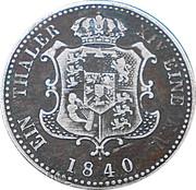 1 thaler Ernst August V. – revers