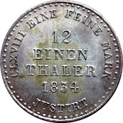1/12 Thaler - Wilhelm IV – revers