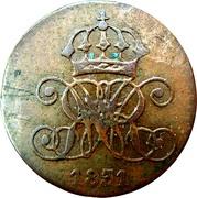 1 Pfennig - Wilhelm IV – avers