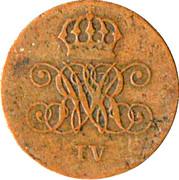 2 Pfennige - Wilhelm IV – avers