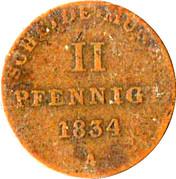 2 Pfennige - Wilhelm IV – revers