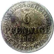 6 Pfennige - Georg V – revers