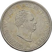 1 thaler - Wilhelm IV – avers