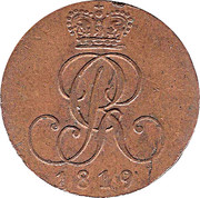 1 Pfennig - Georg III – avers