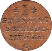 1 Pfennig - Georg III – revers