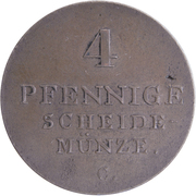 4 pfennige - Georg IV – revers