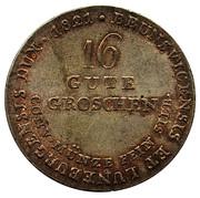 16 gute groschen George IV – revers