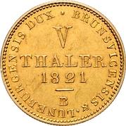 5 thaler George IV – revers