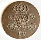 1 pfennig William IV – avers