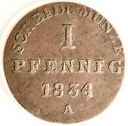 1 pfennig William IV – revers