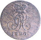1 Pfennig - Georg IV – avers
