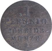 1 Pfennig - Georg IV – revers