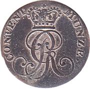 4 Pfennige - Georg III – avers