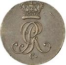 1 Pfenning - George III. – avers