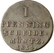 1 Pfenning - George III. – revers