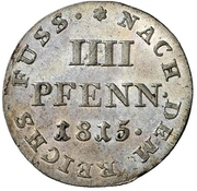 4 Pfennig - George III. – revers