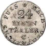 1/24 Thaler - George III. – revers