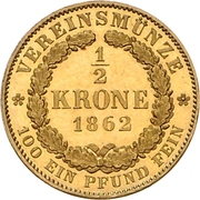 ½ Krone - Georg V – revers