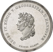 1 Thaler - George IV. (Ausbeutekonventionstaler) – avers