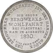 1 Thaler - George IV. (Ausbeutekonventionstaler) – revers