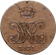 4 Pfennig - William IV. – avers