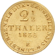 2½ Thaler - William IV. – revers