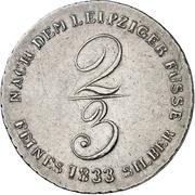 ⅔ Thaler - William IV (2/3 Ausbeutetaler) – revers