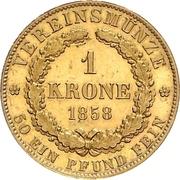 1 Krone - Georg V – revers