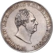 ⅔ Thaler - William IV. – avers