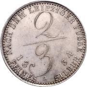 ⅔ Thaler - William IV. – revers