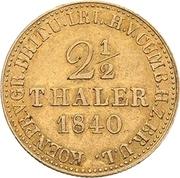2½ Thaler - Ernst August – revers