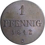 1 pfennig Ernst August – revers