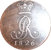 2 Pfennige - Georg IV – avers