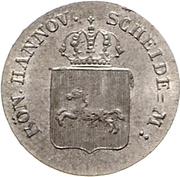 4 Pfennige - Wilhelm IV – avers