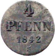 4 Pfennige - Ernst August – revers