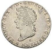⅔ thaler George IV – avers