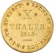 10 thaler Georg III – revers