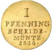 1 pfenning Georg III (Frappe essai en or) – revers