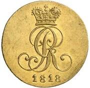 1 pfenning Georg III (Frappe essai en or) – avers