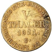 5 thaler Georg IV – revers
