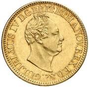 10 thaler Wilhelm IV – avers