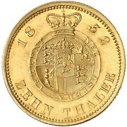 10 thaler Wilhelm IV – revers