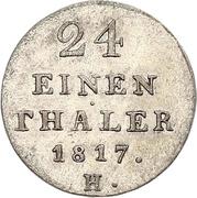 1/24 Thaler - George III – revers