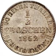 ½ Groschen - Georg V – revers