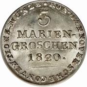 3 Mariengroschen - Georg III – revers